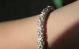 925 Silver Medium Byzantine Bracelet 24,4 g