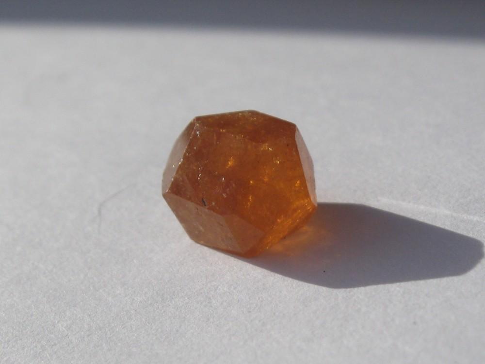Orange spessartite garnet