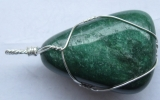 Fuchsite pendant wire wrapped in sterling silver