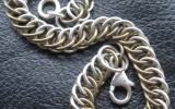 925 Silver & Brass Half Persian 4 in 1 Bracelet 13,9 g
