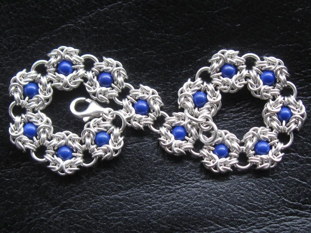 925 Silver Romanov Bracelet With Lapis Lazuli 22,9 g