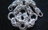 925 Silver Medium Rose Byzantine Bracelet 22 g