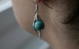 925 Silver Magnesite Turquoise Earrings 5,4 g