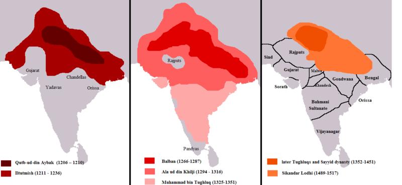 Delhi Sultanate under different rulers