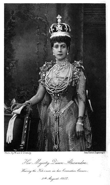 Queen Alexandra wearing the Koh-i-Noor