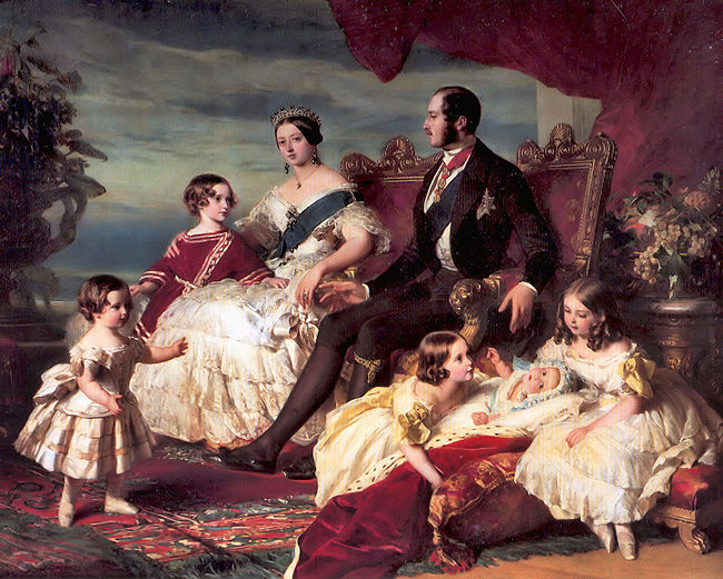 Victoria's family in 1846 by Franz Xaver Winterhalter