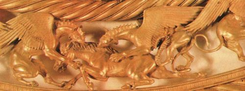 Center pair of griffins