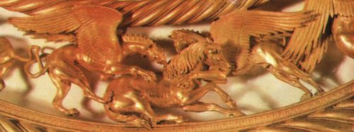 Left pair of griffins