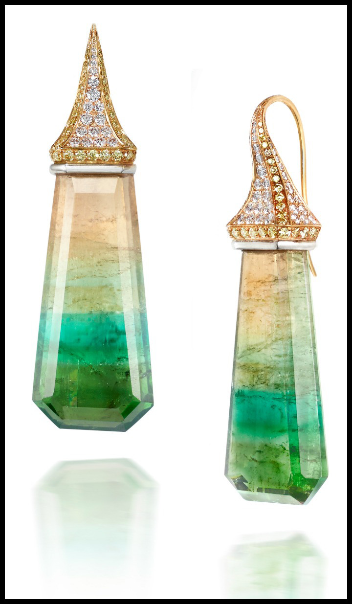 Four-color-tourmaline-earrings-by-Rachel-Sarc.