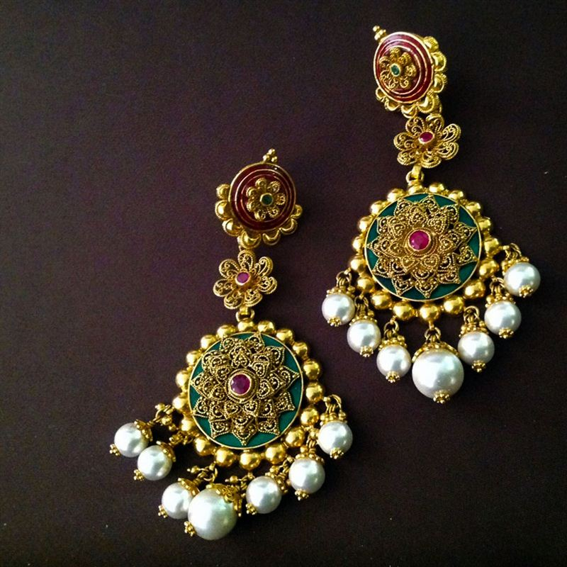 Moghul Style Bridal Earrings
