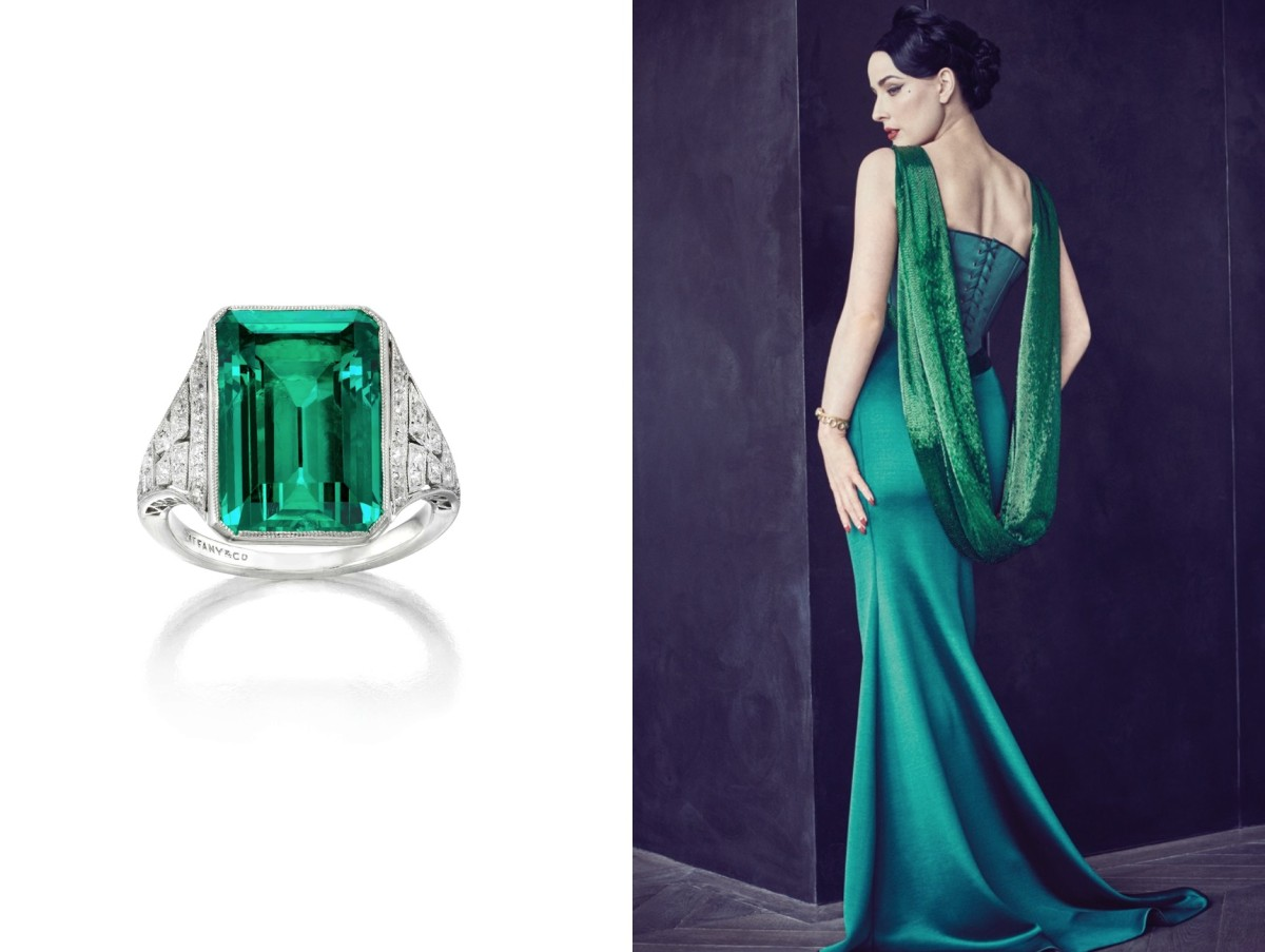 The Whitney Emerald Ring & Alexis Mabille Couture Fall 2015 Dress